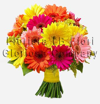 Bouquet di gerbere consegna fiori online a domicilio for Fiori gerbere
