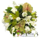 BOUQUET RAFFINATO CON ROSE E ANTHIRIUM
