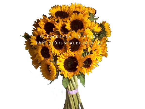 Inviare Fiori Online.Bouquet Di Soli Girasoli Consegna Fiori Online A Domicilio